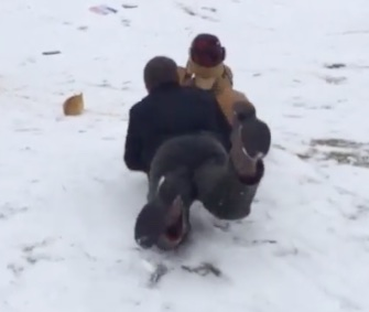 A video of Jill Duggar's husband, Derick Dillard, sledding into a cat causes controversy.