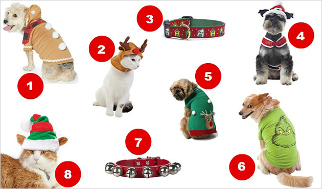 pet holiday products numbered