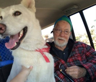 Missy, a German Shepherd, was reunited with her owner, Clem Schultz, two dads after he lost his wife and his home in a devastating tornado.