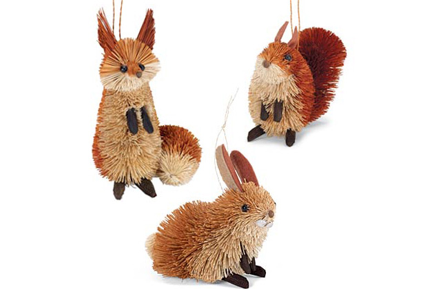 Natural Brush Animal Ornaments