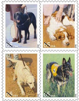 Dogs at Work stamps