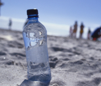 Water Bottle at Beach