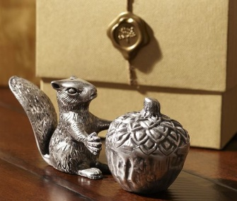 Pottery Barn squirrel salt and pepper shakers