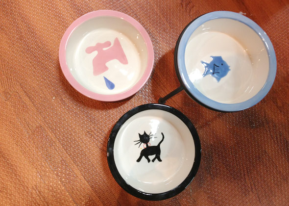 Melia Pet Ceramic Cat Bowls