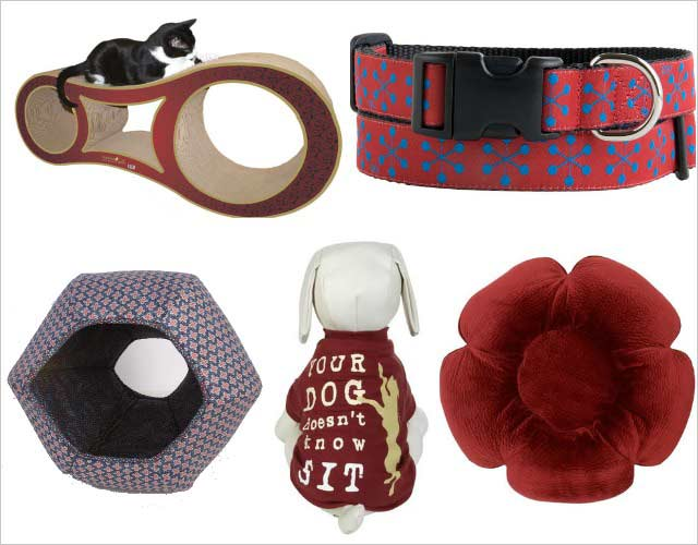 pet products in Pantone Marsala