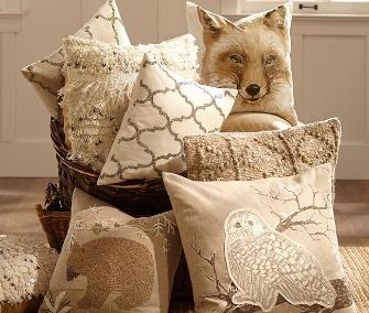 Pottery Barn animal pillows