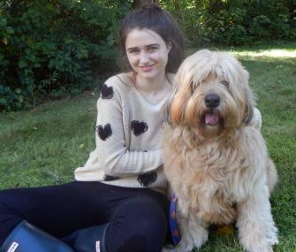 Annie Blumenfeld and her dog