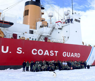 Coast Guard Penguin Photobomb