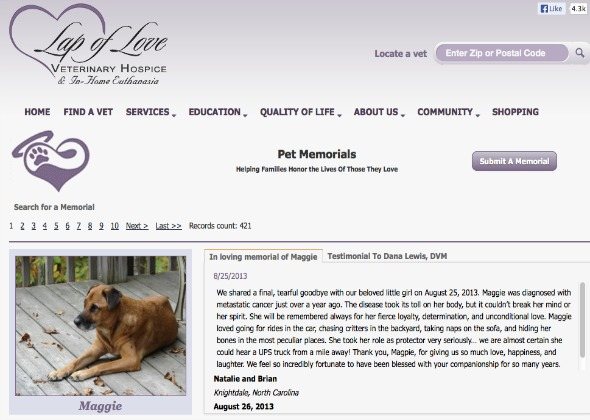 website to remember your pet