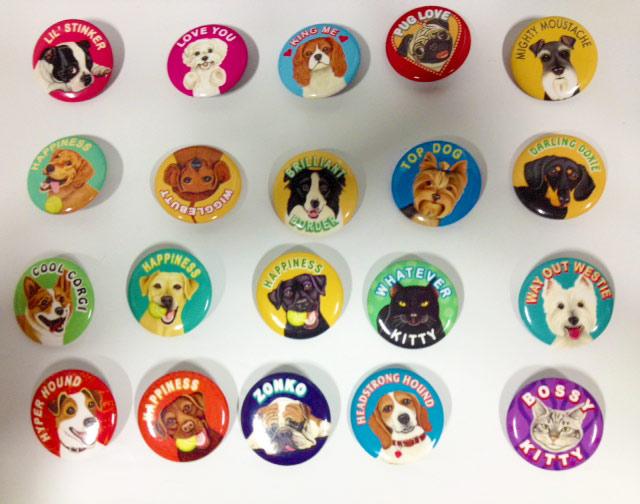 Retro Pets Buttons