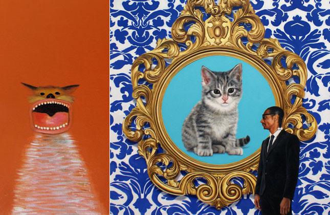 Orange Cat by Nicholas Chistiakov and A Great Big Giant World by Marc Dennis