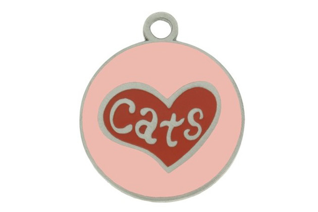 Heart Cat ID Tag