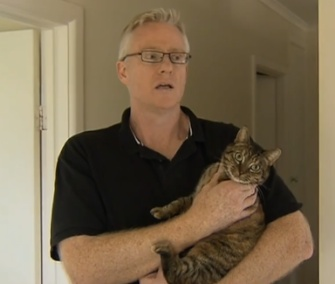 Matt Clayton says his newly adopted cat, Tilly, alerted him to smoke in his home's ceiling.