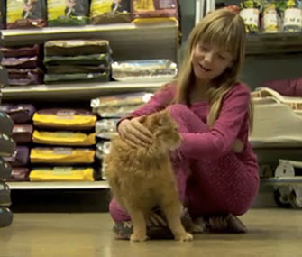 Timmy the cat was reunited with Talus Miller on Saturday.
