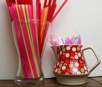 Container of straws