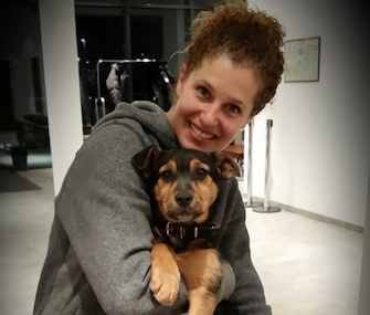 Lindsey Jacobellis, a U.S. snowboarder, plans to bring this Sochi stray puppy home with her.