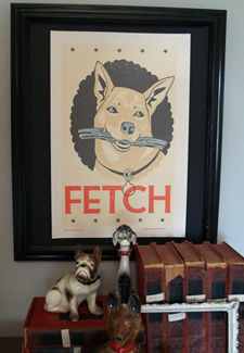 Fetch Handprinted Letterpress Poster