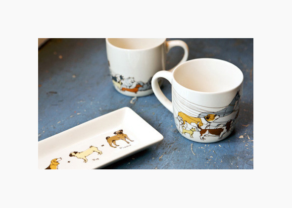 Dog Walker Mug and Tray