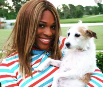 Serena Williams posted a tribute to her 16-year-old dog Jackie on Instagram Tuesday.
