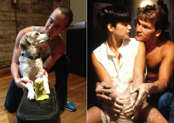 Dog reenacts scene from 'Ghost'