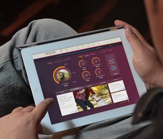 Voyce app on tablet