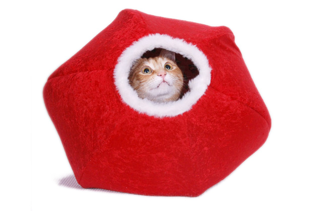 Holiday Cat Ball from Jenna's Red Rhino