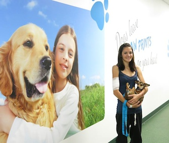 The Healing Paws program reunites longterm pediatric patients with their family pets.