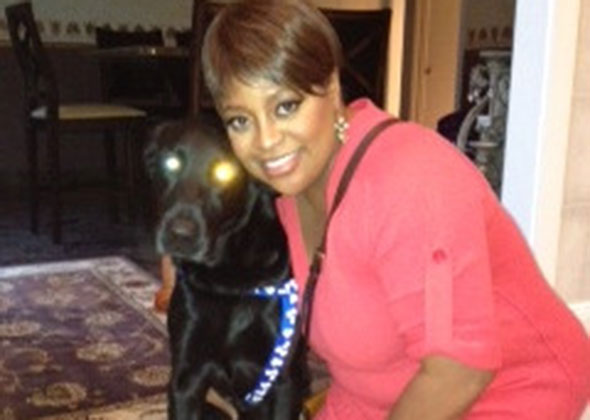 Sherri Shepherd with her rescue dog