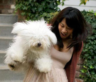 Priscilla Chan holds Beast, who walked her down the aisle at her wedding last weekend.