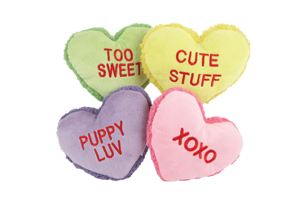 Conversation Hearts Dog Toys