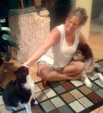 Nancy Hurley and her pets
