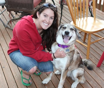 Mary Wolfe was reunited with Nahla on June 3, eight months after the dog disappeared.