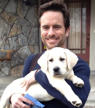 Nashville actor Charles Esten adopted his former co-star, Blue.