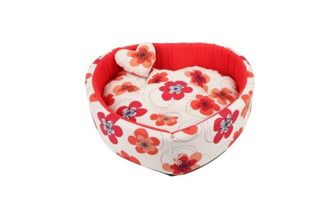 Heart-Shaped Dog Bed