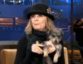 Diane Keaton with rescue dog