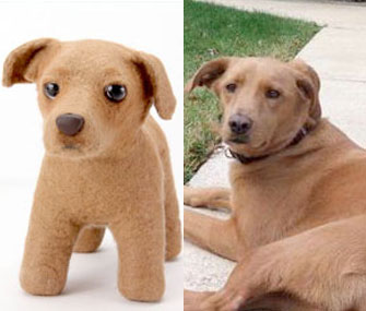Shelter Pups stuffed animals are custom made using photos of real-life mixed-breed dogs, like this one.