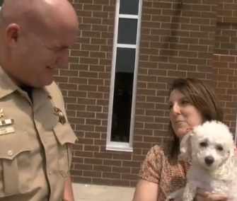A Tennessee sheriff's deputy brought Abby the dog back to life after finding her unconscious in a house fire.