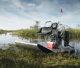 Boat and the Everglades National Park