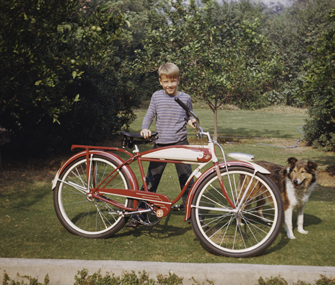 1940s boy and his dog