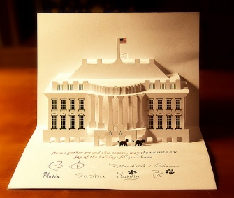 Bo and Sunny Obama were part of the pop-up holiday card from the White House that arrived in mailboxes this week.