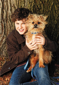 Nolan Gould and his dog