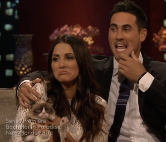 Grumpy Cat made a surprise appearance on the season finale of the Bachelorette.