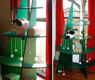 DIY Cat Christmas Tree