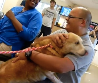 After being missing for four months, a Marine veteran was reunited with his therapy dog, Nahla.