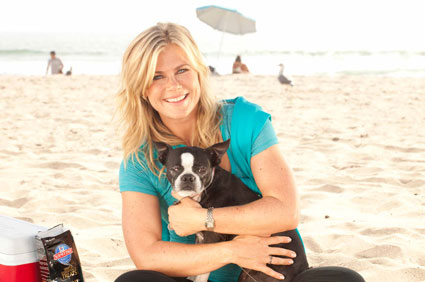 Alison Sweeney and dog