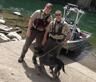 Sheriff's deputies in Clackamas County, Oregon, rescued a dog from a 100-foot cliff.