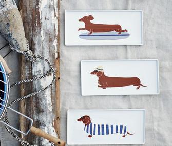 Claudia Pearson Dog Plates
