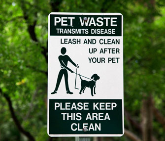 Clean up dog's poop