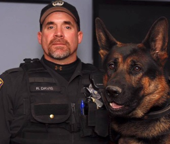 Canton, Ohio, police K9 Jethro was with his partner, Officer Ryan Davis, when he was fatally injured over the weekend.