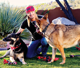 Bret Michaels and Dogs